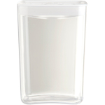 Click Clack Cube Food Storage Container with White Lid, 4.5 Quart
