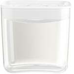 Click Clack Cube Food Storage Container with White Lid, 1.5 Quart
