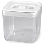 Click Clack Cube Food Storage Container with White Lid, 2 Quart