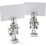 Lunt Silversmiths Nutcracker Place Card Holder Gift Set