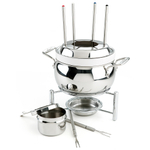 All-Clad Stainless Steel Fondue Pot with Ceramic Insert, 3 Quart