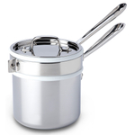 All-Clad Sauce Pan with Porcelain Double Boiler Insert, 2 Quart