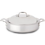 All-Clad Tri-Ply Stainless Steel Sauteuse Pan with Domed Lid, 4 Quart - 440418