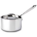 All-Clad Stainless Steel Sauce Pan With Lid, 1.5 Quart