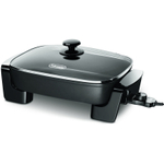 DeLonghi Black Electric Skillet with Tempered Glass Lid