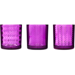 Sagaform Purple Mirrored Tea Light Holder, Set of 3