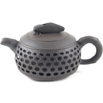 Brown Basket Weave Yixing Clay 9 Ounce Teapot