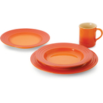 Le Creuset Flame Stoneware 16 Piece Dinnerware Set, Service for 4