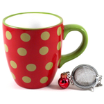 Boston Warehouse Ornament Tea Time Infusing Mug Set