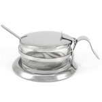 Stainless Steel Cheese Bowl / Salt Cellar with Spoon
