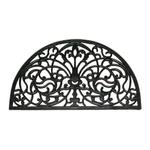 Semi-Circle Ornamental Pattern Recycled Rubber Doormat