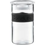 Bodum Presso Storage Jar with Black Silicone Band, 8 Ounce