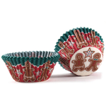 Cupcake Creations Gingerbread Man Baking Cup, Set of 32