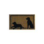 Entryways Dog Hand Woven Coir Animal Silhouette Doormat