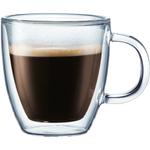 Bodum Bistro Double-Walled Transparent 5 Ounce Espresso Mug, Set of 2