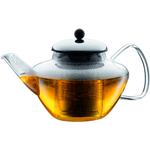 Bodum Classic Glass Tea Press with Stainless Steel Filter and Lid, 40 Ounce