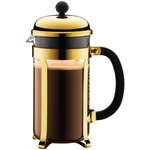 Bodum Chambord Gold Tone French Press Coffee Maker, 8 Cup