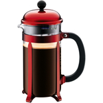 Bodum Jesper Metallic Red French Press Coffee Maker, 8 Cup
