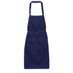 Blue Tie Waist Cooking Apron