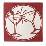 Martini Glass Happy Hour Ceramic Trivet or Wall Decor