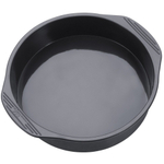 The Chef's Toolbox Gray Silicone Round Cake Pan, 9 Inch