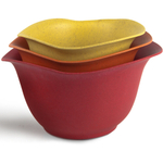 Architec Purelast Warm Colors Mixing Bowl, Set of 3