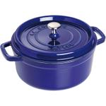 Staub Dark Blue Round Cocotte, 2.25 Quart
