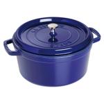 Staub Dark Blue Enameled Cast Iron Round Cocotte, 13.25 Quart