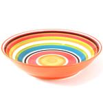 Omniware Multicolored Striped Serving Bowl, 14 Inch