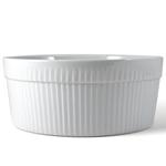 Omniware White Porcelain Souffle Dish, 1 Quart