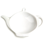 Omniware White Ceramic Tea Caddy and Infuser Holder