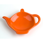 Omniware Orange Ceramic Tea Caddy and Infuser Holder