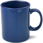 OmniWare Teaz Cafe Navy Stoneware 11 Ounce Classic Coffee Mug