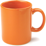 OmniWare Teaz Cafe Orange Stoneware 11 Ounce Classic Coffee Mug