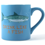 Hatley Drink Like a Fish 14 Ounce Ceramic Mug