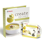 "Vitamix ""Create"" Recipe Book with Chef Steve Schimoler Instructional DVD for Professional Series 500 Machines"