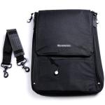 Messermeister Black 6 Pocket Knife Storage Messenger Bag