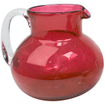 Artland Iris Ruby Seeded Glass Pitcher, 90 Ounce