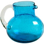 Artland Iris Turquoise Seeded Glass Pitcher, 90 Ounce
