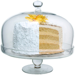 Artland Simplicity Glass Cake Plate with Dome