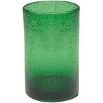 Artland Iris Green Seeded Glass 17 Ounce Highball Tumbler