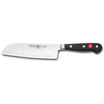 Wusthof Classic High Carbon Steel Hollow Ground Santoku Knife, 7 Inch