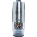 Trudeau Stainless Steel One-Handed Battery Operated Salt Mill