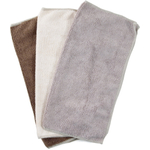 Chocolate, Beige, and Tan Microfiber Cleaning Cloth, Set of 10