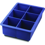 Tovolo King Cube Blue Silicone Ice Cube Tray