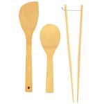 Helen Chen's Asian Kitchen Bamboo 3 Piece Kitchen Utensil Set