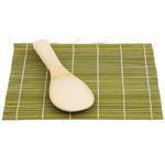 Helen Chen's Asian Kitchen Bamboo Sushi Mat and Paddle