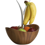 Nambe Alloy and Wood Fruit Tree Bowl
