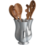 Nambe Alloy Tulip Kitchen Tool Jug With 5 Piece Tool Set