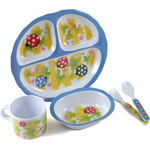 Home Essentials Kids Bugaboo Melamine 5 Piece Oval Dinnerware Set